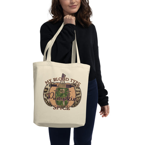 Pumpkin Spice Blood Type- Tote Bag