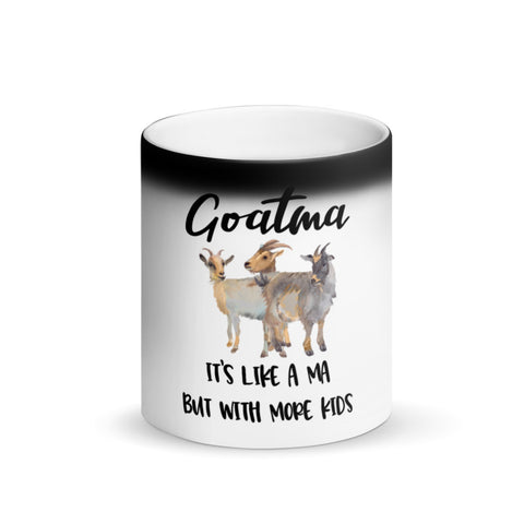 """Goatma""- Matte Black Magic Mug"