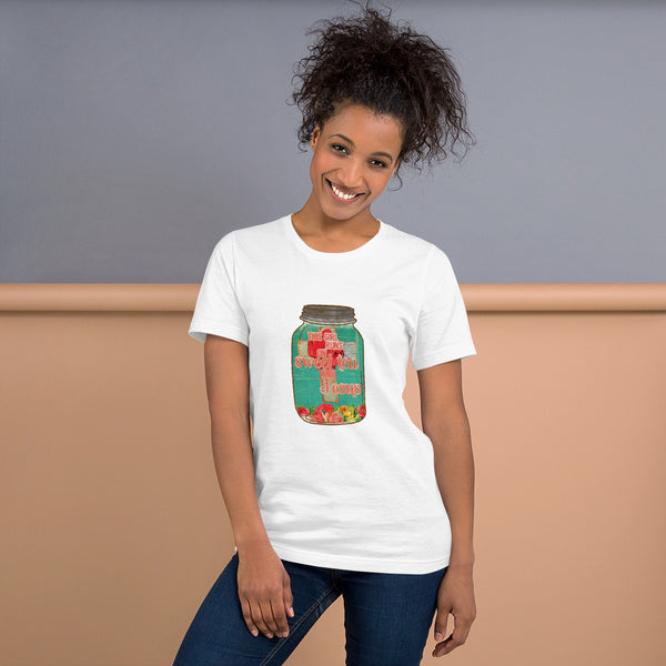 """Sweet Tea and Jesus"" Short-Sleeve Unisex T-Shirt"