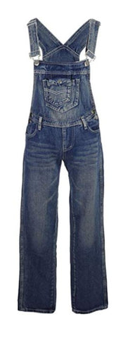 Anna-Kaci Women's Straight Leg Denim Overalls with Pocket Bib
