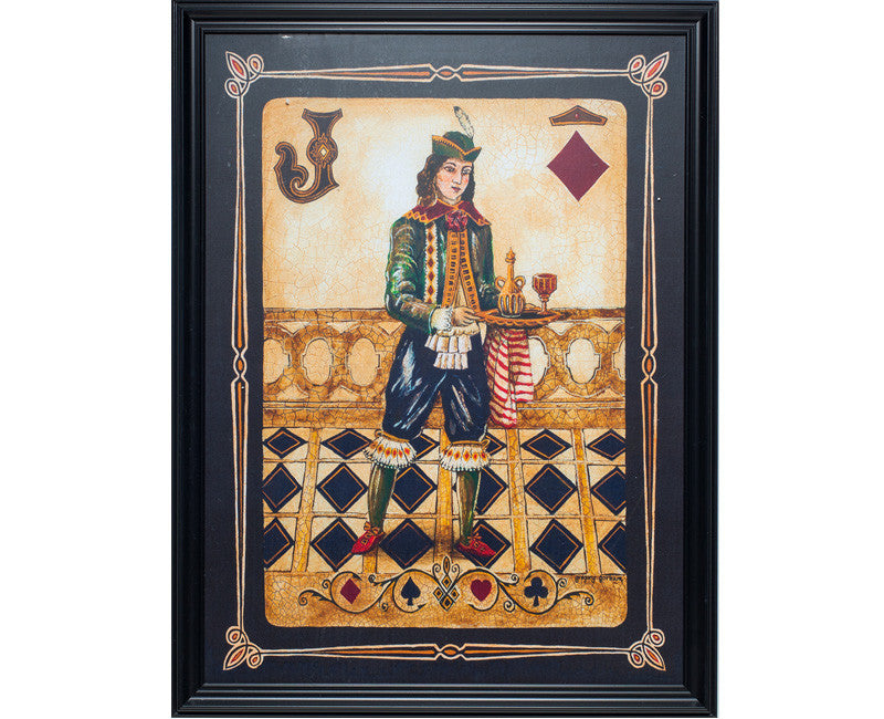 Jack of Diamonds Framed Wall Art