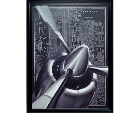 New York Aviator Framed Wall Art
