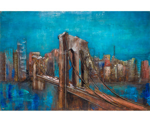 Nightfall Bridge Metal Wall Art