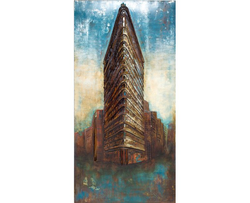Urban-Industrial Sky Rise Metal Wall Art