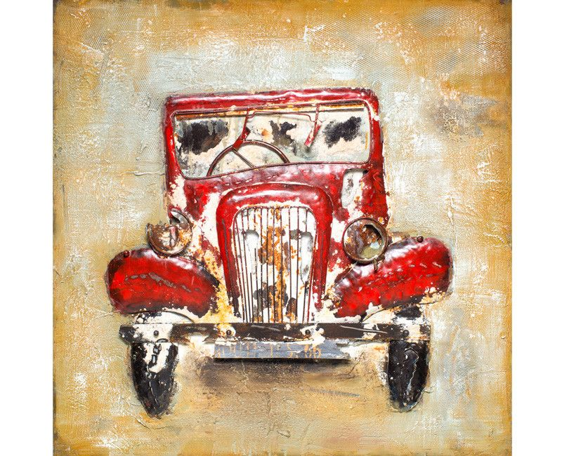 Vintage Antique Car Artwork