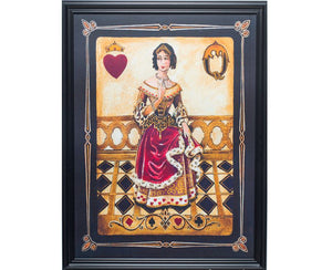 Vintage Queen of Hearts Wall Art