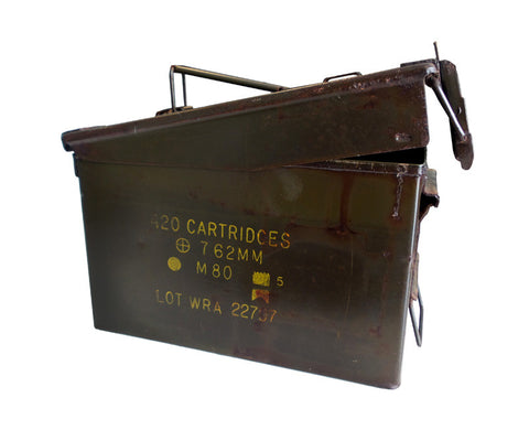 Military Metal Ammo Box