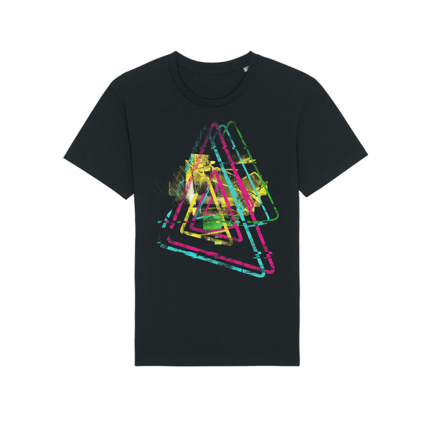 REWIND GLITCH TRIANGLE T-SHIRT