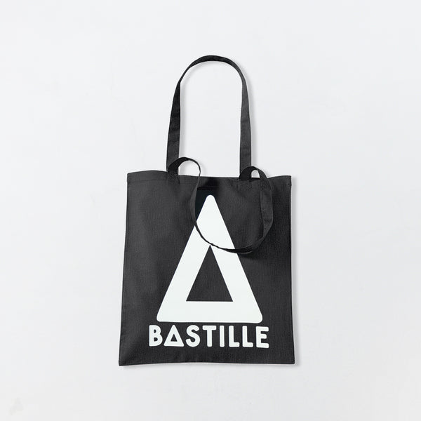 BLACK TRIANGLE TOTE BAG