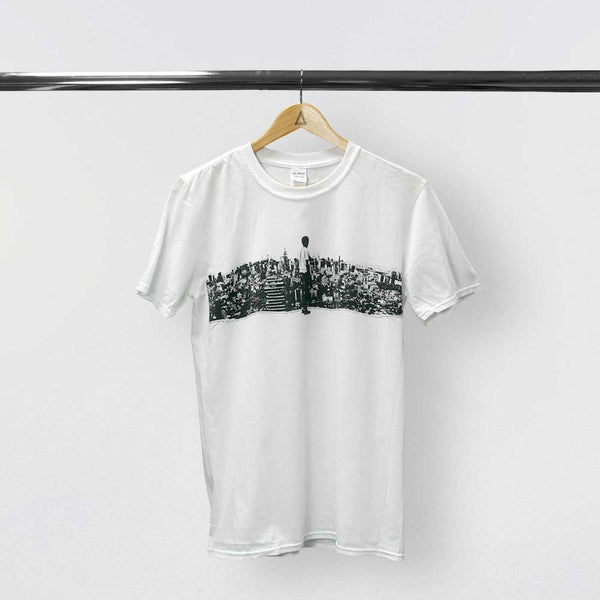 """WILD WORLD"" SKYLINE WHITE T-SHIRT"