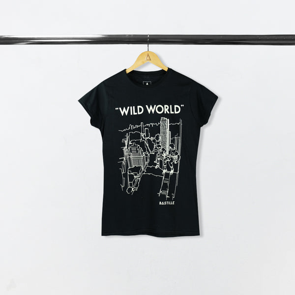 WILD WORLD WOMEN BLACK 2017 EU TOUR TEE