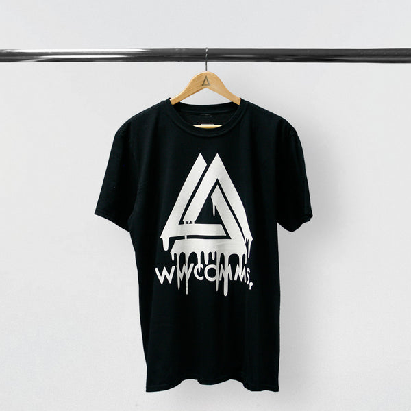 WWCOMMS DRIPPING TRIANGLE BLACK T-SHIRT