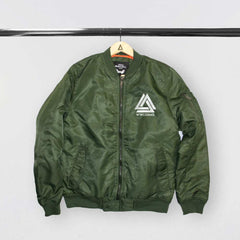 """WILD WORLD"" KHAKI BOMBER"