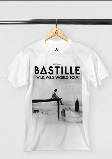 BASTILLE WILD WORLD B&W TOUR T-SHIRT
