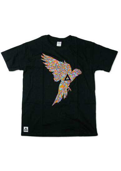 BASTILLE BLACK MENS PARROT T-SHIRT