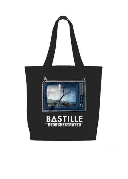 REORCHESTRATED TV BLACK TOTE BAG