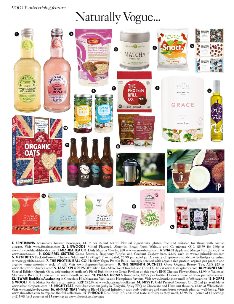 Mizuba Matcha Tea Co in Vogue Magazine, March 2016, UK edition