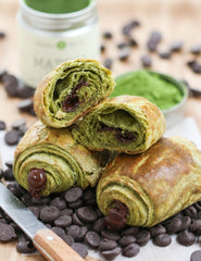 Mizuba Matcha Chocolate croissants, Thirsty for Tea recipe.