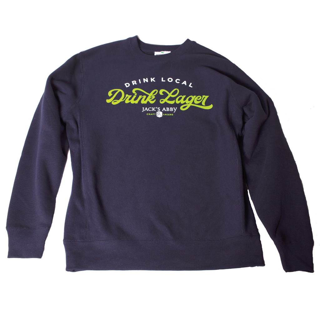 Blue Crew Neck - Drink Local, Drink Lager