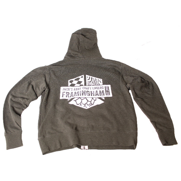 Green Framingham Zip Up
