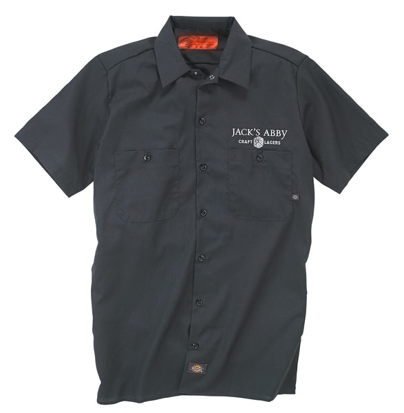 Men's Grey Button Up Work Shirt