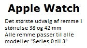 Apple Watch remme 42 mm og 38 mm til Series 0 Series 1 Series 2 Series 3
