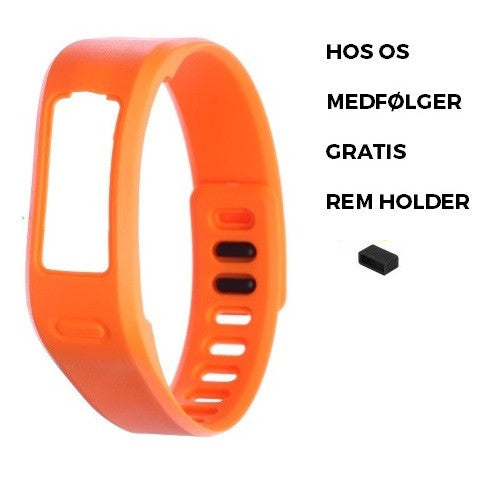 Rem kompatibel med Garmin Vivofit 1 ekstra armbånd i orange, small / large, med holder