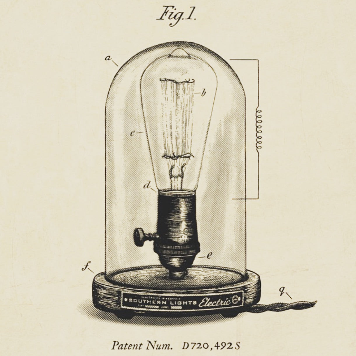 Bell Jar Table Lamp Drawing