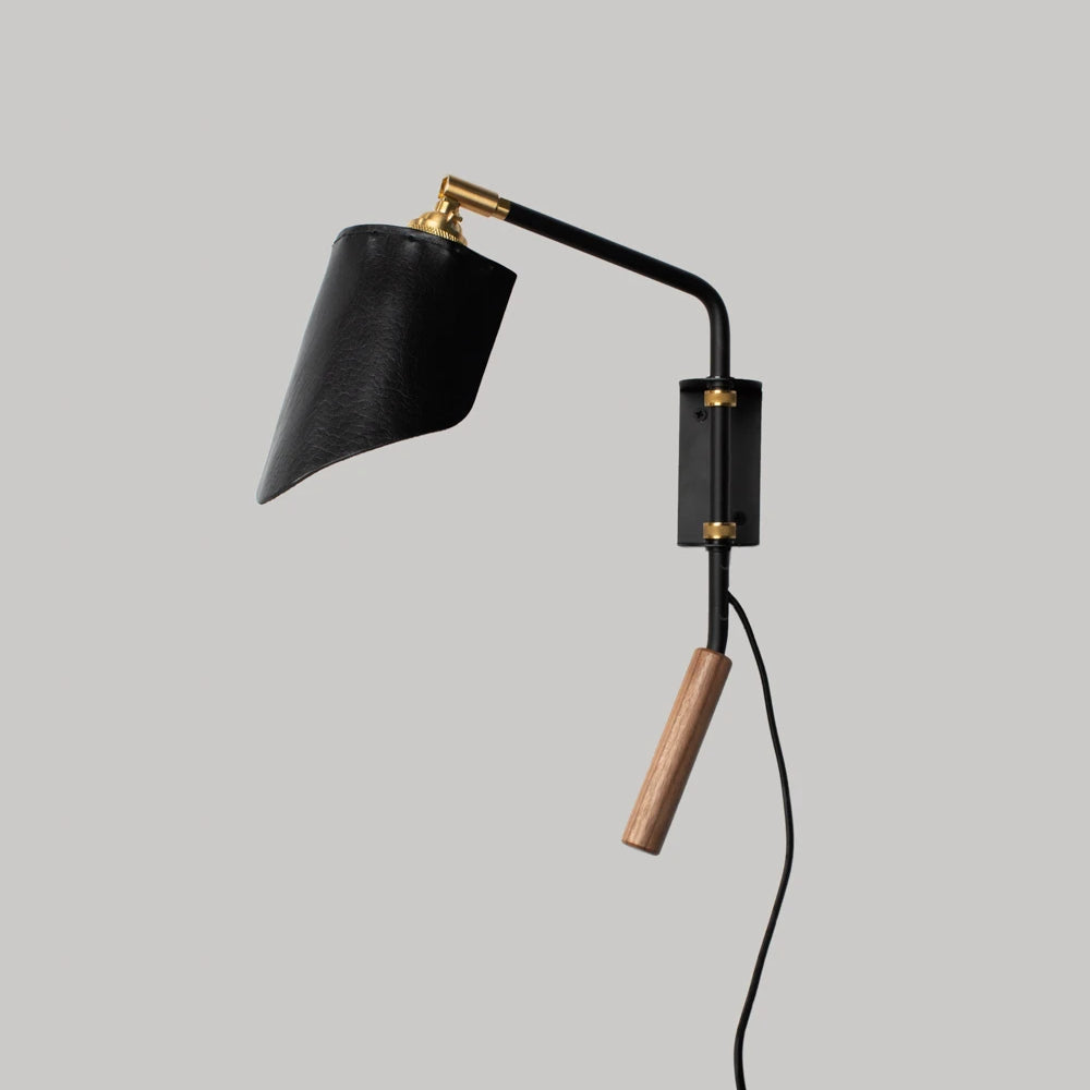 Bode wall sconce in flat black