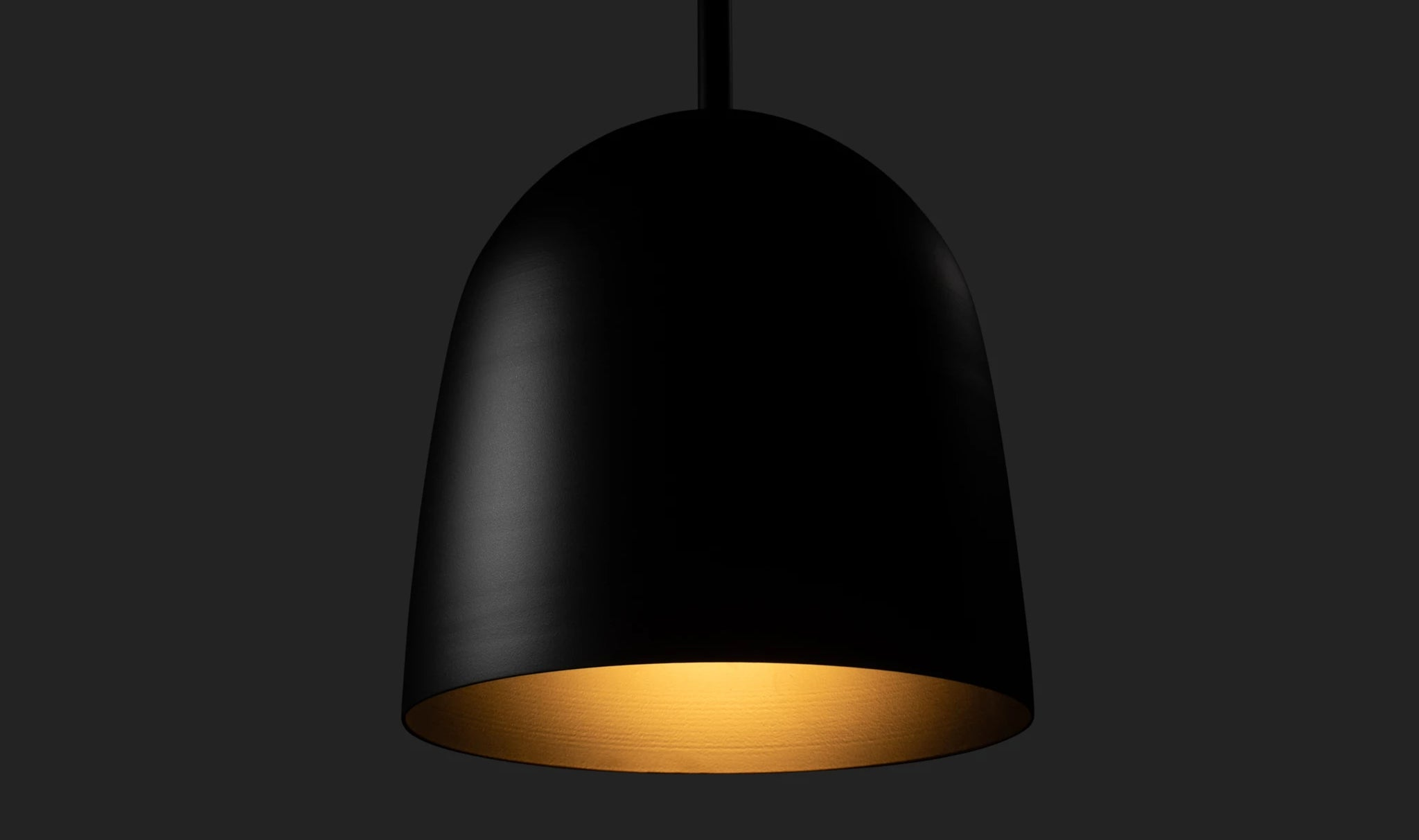 Bullet Pendant in Flat Black