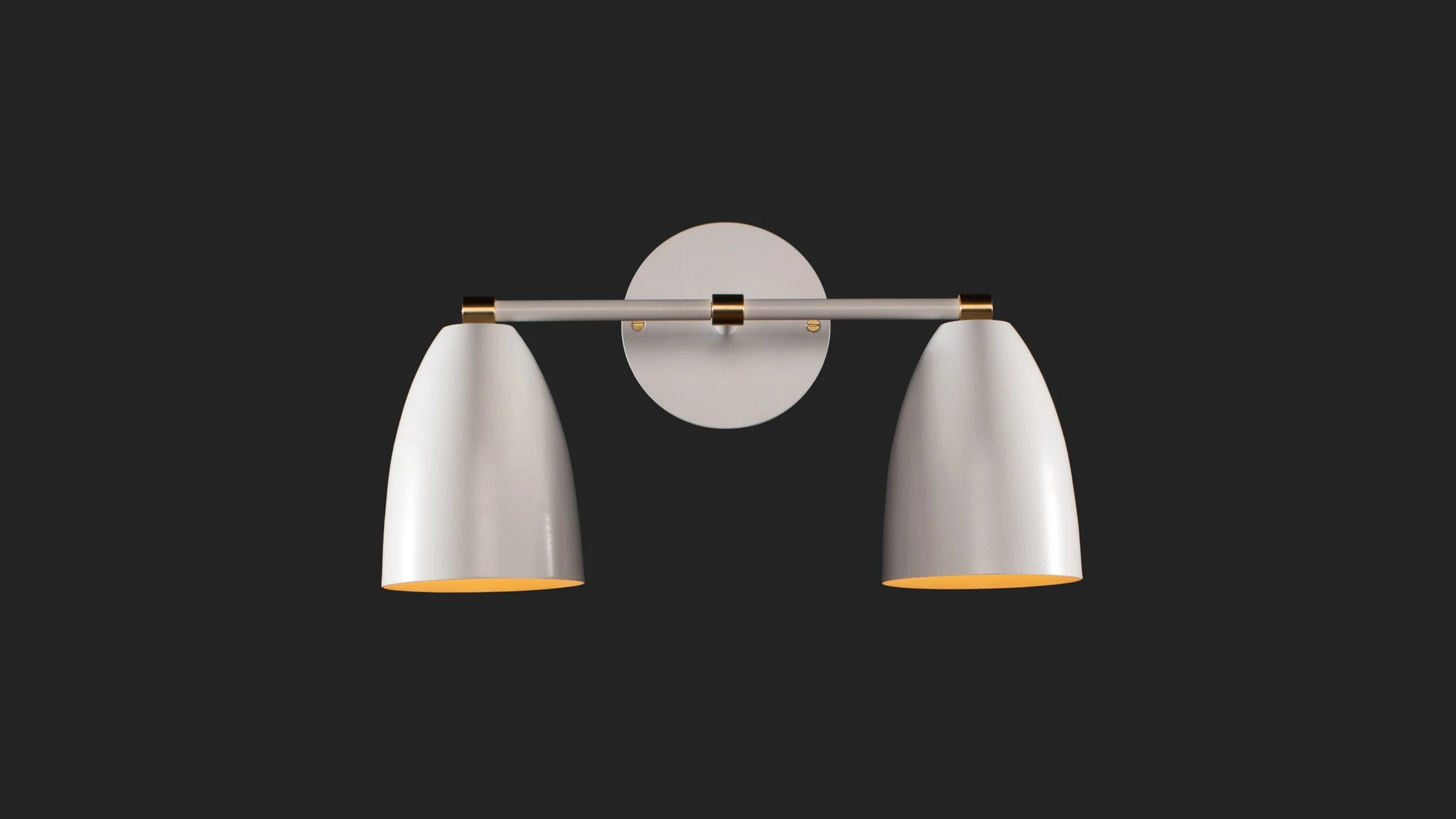 Betty Vanity Wall Sconce in Satin White
