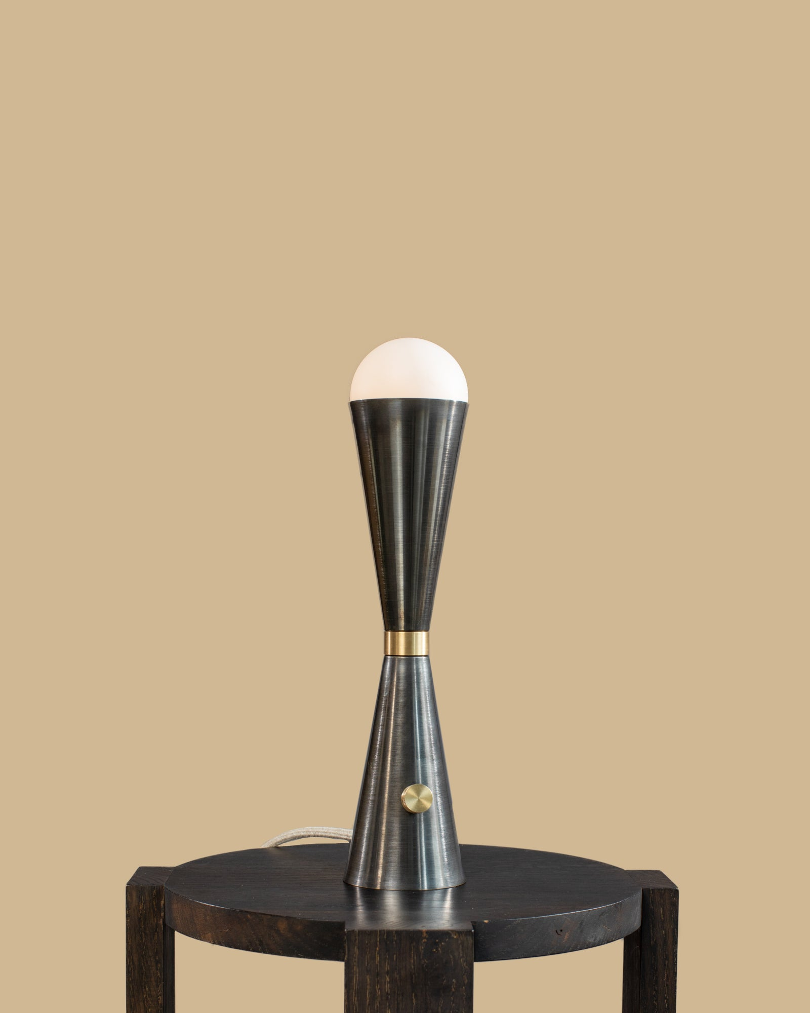 Karma Table lamp in Black Brass