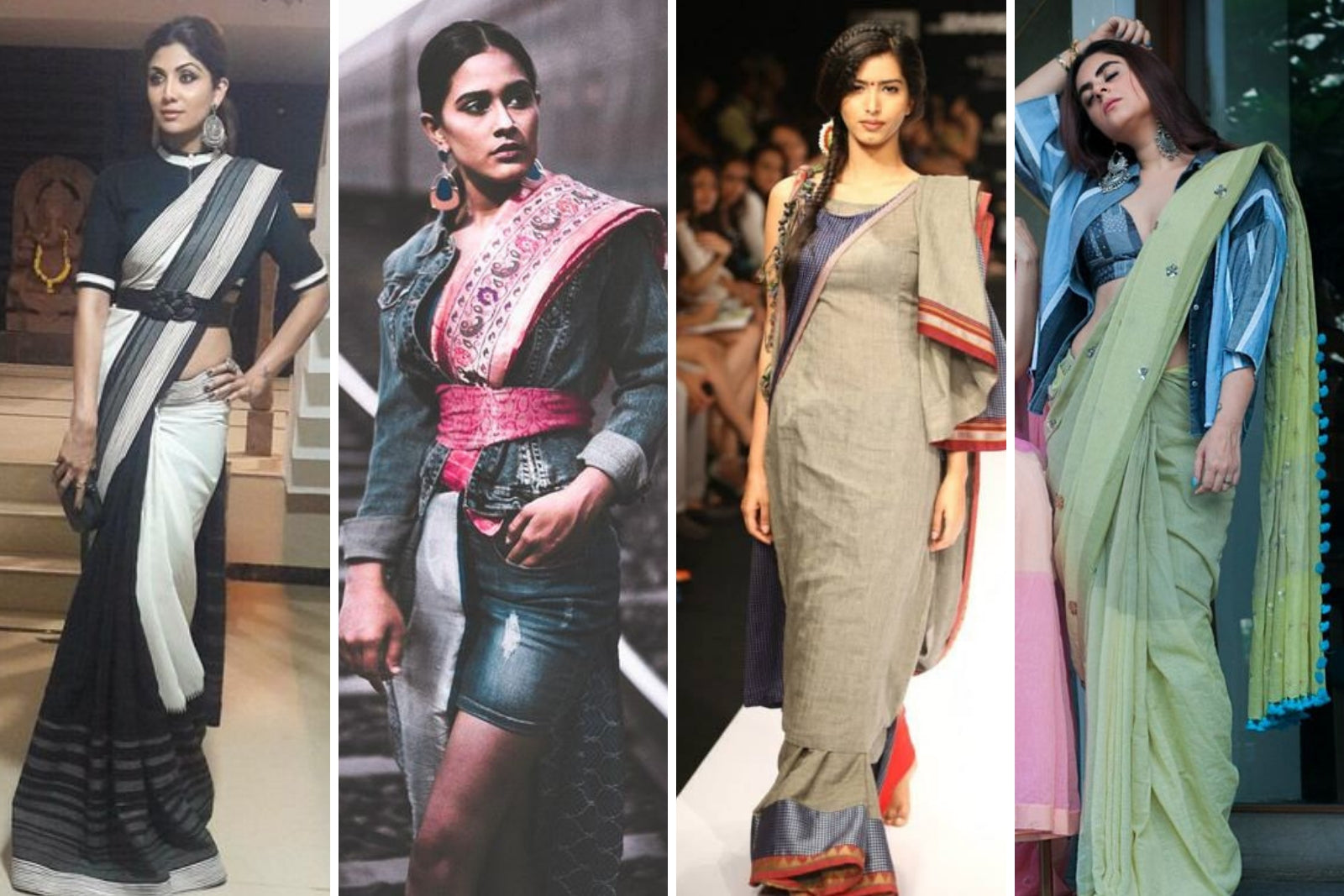 4467a112ad 10 Unique Ways Sarees Continue to Stay Contemporary – Fabriclore.com