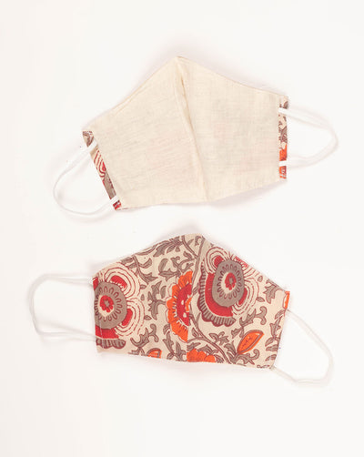 Double Layer Reusable Cotton Face Mask - Fabriclore.com