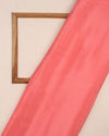 Salmon Plain Chinnon Chiffon Fabric