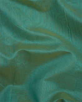 Teal Banarasi Chanderi Silk Plain Fabric