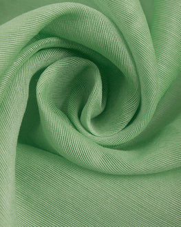 Green Banarasi Chanderi Silk Plain Fabric