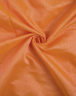 Orange Banarasi Chanderi Silk Plain Fabric