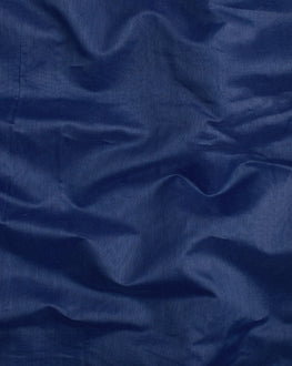 Royal Blue Banarasi Chanderi Silk Plain Fabric