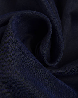 Navy Blue Banarasi Chanderi Silk Plain Fabric