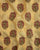 Yellow & Brown Hand Block Floral Mughal Chanderi Silk Fabric - Fabriclore.com