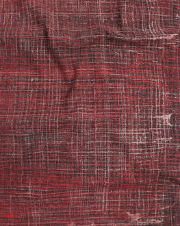 Maroon & Grey Brushed Hand Block Cotton Fabric - Fabriclore.com
