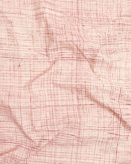 Pink & Off-White Brushed Hand Block Cotton Fabric - Fabriclore.com