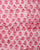 Pink & White Booti Wax Batik Hand Block Cotton Fabric - Fabriclore.com