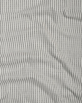 White & Black Stripes Cotton Dobby Fabric - Fabriclore.com