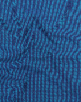 Blue Handloom-Textured Cotton Fabric - Fabriclore.com