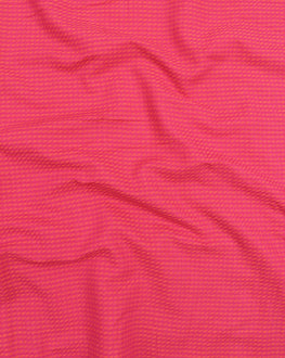 Pink & Orange Stripes Handloom-Textured Cotton Fabric - Fabriclore.com