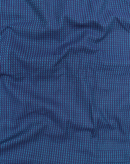 Navy-Blue Handloom-Textured Cotton Fabric - Fabriclore.com