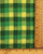 Green & Yellow Checks Handloom-Textured Cotton Fabric - Fabriclore.com