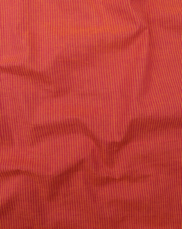 Orange & Yellow Stripes Handloom Textured Cotton Fabric - Fabriclore.com